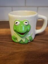 The Muppets Kermit The Frog Jim Hensons Ceramic Coffee Mug Cup 3D Handmade 1980