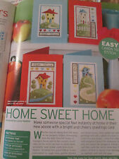 'Home Sweet Home' Lucie Heaton cards Cross Stitch Charts(only)