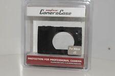 Bereitschaftstasche Tasche Schutztasche Silikon silicone case Nikon 1 J3 schwarz