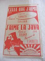 Partitura Uno que J'aime Gabutti J'aime la Java