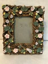 """Resin 3D Floral 3"""" x 4"""" Picture Frame"""