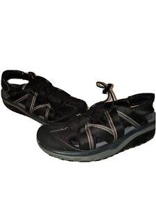 MBT Sandals Jasira Trail Womens 8/8.5 Black Gray Mesh Athletic Rocker Sole