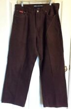 DRUNKNMUNKY Denim Dark Brown Jeans Men's W34 L32 Casual Dress Pant Cotton Slacks