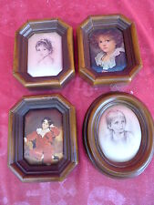 4 Beautiful, Old Pictures__Thumbnail Images__Framed