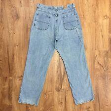 "Vtg 90s Riders Distressed Carpenter Jeans 100% Cotton Womens Size 14 M Waist 33"""