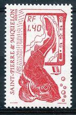 STAMP / TIMBRE SAINT PIERRE ET MIQUELON NEUF N° 502 LA PECHE POISSON
