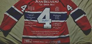Jean Beliveau Limited Edition autographed Career jersey #166 of 299