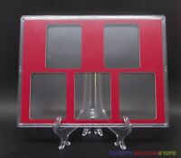 1 x New Storage Display Showcase Box For 5 PCGS Certified Slabs Coin Holder -Red