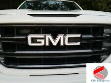 GMC Sierra Emblem Overlay Decal GLOSS WHITE Front & Rear | PRECUT | NO CUTTING