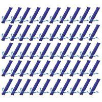 50 Pezzi di Velluto Blu Porta Penne Custodia Manica Singola Penna Sacchetto V7G5