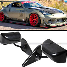 For 89-94 240sx S13 F1 Style Manual Adjustable Carbon Painted Side View Mirror