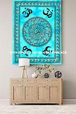 OM Mandala Plakat Wurf Yogamatte Tischdecke Baumwoll Indische Tapisserie Boho
