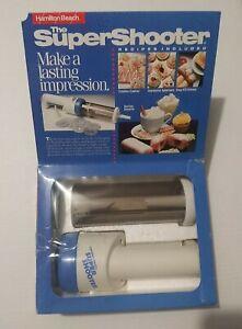 SUPER SHOOTER Electric Cookie Press Hamilton Beach Cordless Food Decorator