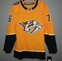 Authentic Adidas NHL Nashville Predators #76 Hockey Jersey New Mens Sizes $190