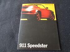 1994 Porsche 911 Speedster Catalog 964 Cabrio Limited Edition US Sales Brochure