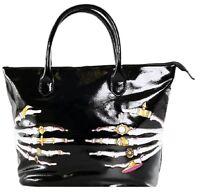 Iron Fist Large Black Death Groper Tote Handbag (Goth,Punk)