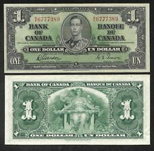 Canada Paper Money - 1 Dollar - 1937 (Gordon Sign.)  P58d - XF/AU