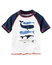 Carter's Infant Boys S/S White Rashguard Top Size 18M 24M $24