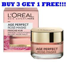 L'Oreal Skincare Age Perfect Rosy Glow Mask Tired Skin 50ml (German Text)