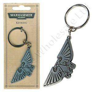 Games Workshop Warhammer 40,000 Aquila Symbol Metal Keyring Keychain - GENUINE