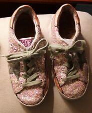 Golden Goose Deluxe Brand Superstar Children's Shoes Pink Glitter Sz 29 or 11.5