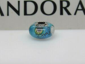 New w/ Box Pandora Hawaii Rainbow Murano Glass Bead Charm 1 Store in HI has them