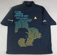 Rare VTG LE COQ SPORTIF 1/4 Zip Esprit De Golf Shirt Spell Out 90s French SZ LL