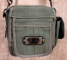GLOSIRY MESSENGER SHOULDER MAN BAG EXTRA STRONG CANVAS OLIVE GREEN