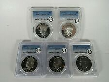 1971 S to 1976 S 5 Coins, Silver Eisenhower Dollars  PCGS Proof 69 Dcam ECC Seal