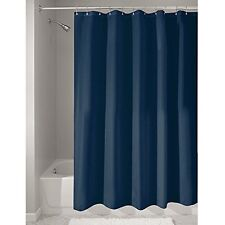 InterDesign Mildew Free Water Repellent Fabric Shower Curtain 72 by 72 Inch Navy