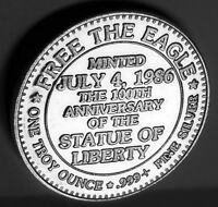 1986 FREE THE EAGLE (THE HOWARD RUFF PAC) LIBERTY .999 FINE SILVER 1 TROY OZ