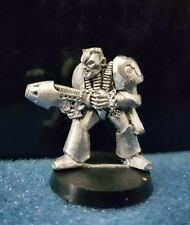 Warhammer40k Rogue Trader Spacemarine with Plasma Gun 2 metal oop 1988 Rare