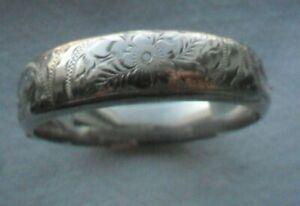 Vintage Engraved Silver Bracelet/Bangle