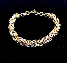 Chainmaille Gold Filled Byzantine Bracelet with a Twist. 7 In
