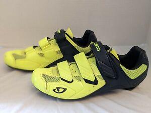 Giro Treble II M US 11 highlight yellow black matte road mountain cycling shoe