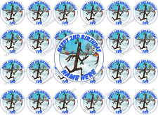 The Stickman Personalised Edible Rice Wafer Paper Cake Cupcake Toppers