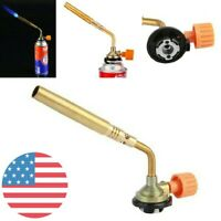 Mapp Gas No Self Ignition Plumbing Turbo Torch Propane Soldering Brazing Welding