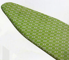 New Honey Can Do Cotton Padded Ironing Board Cover White Green Squares Elastic
