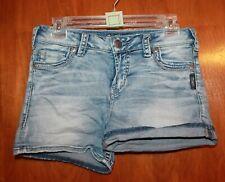 "SILVER Ladies' Size 27 DENIM SHORTS (""Tuesday""; 4.5"" inseam) EUC"
