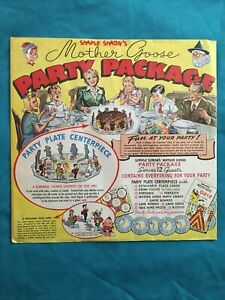 1946 Simple Simon Mother Goose Party Package - Complete Unpunched *Near Mint*