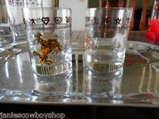 Western Decor Glassware Bronc Rope Brand Glasses 14 Oz Rock Western Rodeo Bronc