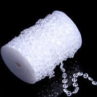 30M Girlande Acryl Kristall Diamant Perlenvorhang Türvorhang Perlen Deko Vorhang