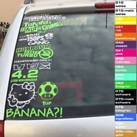 7 Autoaufkleber Set freie Auswahl aus 500 Motiven Tuning Sticker JDM OEM Shocker
