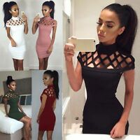 Women Bandage Bodycon Sleeveless Evening Party Cocktail Short Sexy Mini Dress GW