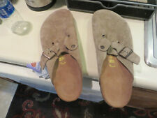 Birkenstock  Boston Suede Leather Clog With Strap
