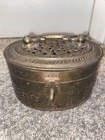 Antique Brass Trinket Box