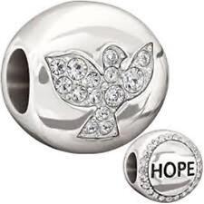 New Chamilia HOPE w/CLEAR SWAROVSKI & Sterling Charm Bead 2025-0992 $50