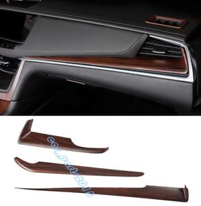 3PCS Peach Wood Grain Dashboard Center Console Cover Trim For Cadillac XT5 16-19
