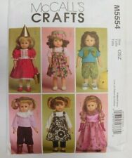 "McCALL'S M5554 SEWING PATTERN for 18"" DOLL CLOTHES - Uncut"