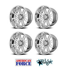 (4) 20x9 American Force Polished SS8 Rebel Wheels For Chevy GMC Ford Dodge